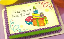 Being 1 is a Piece of Cake Edible Image Cake Topper