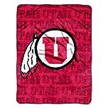 Buy NCAA Utah Utes 46-Inch-by-60-Inch Micro-Raschel Blanket, Grunge Design by Northwest