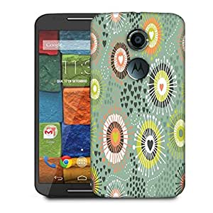 Snoogg Purple Pattern Design Designer Protective Phone Back Case Cover For Moto X 2nd Generation