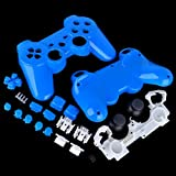Polished-Light-Blue-PS3-Controller-Shell-Kit-Glossy-Custom-Repair-Mod-Set-Buttons-Housing-Full-Playstation-3