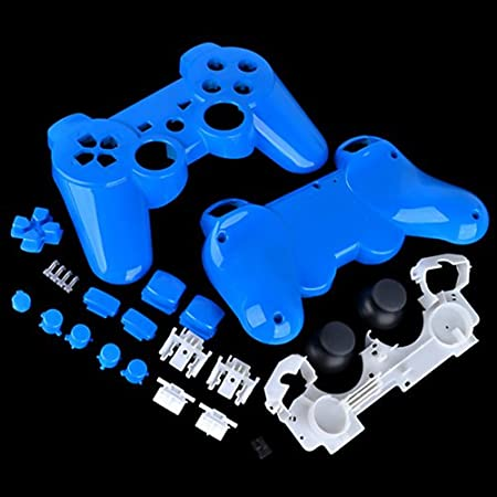 PS3 Polished Light Blue Replacement Controller Shell