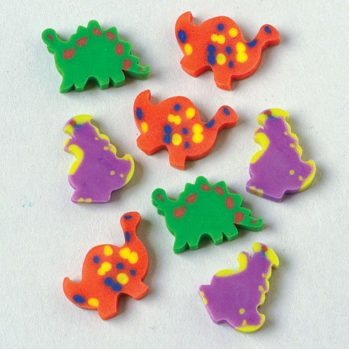 Mini Dinosaur Erasers - 1