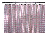 Charlestown Check Bathroom Shower Curtain, Watermelon
