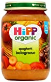 HiPP Organic Stage 2 From 7 Months Spaghetti Bolognese 6 x 190 g (Pack of 2, Total 12 Pots)