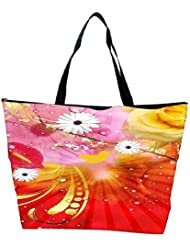 Snoogg Fantasy Flowers Background Waterproof Bag Made Of High Strength Nylon - B01I1KKW2G