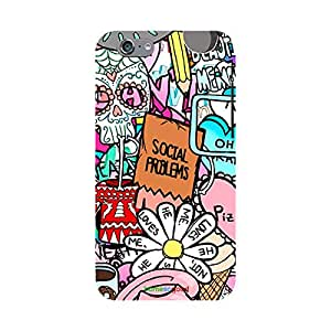 HomeSoGood Present Day Problems Multicolor Mobile Cover For iPhone 6 (Back Cover)