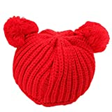 PromiseTrue Cute Unisex Baby Cap Knitting HatRed