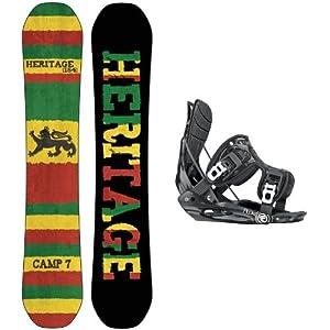 Buy 2014 Camp Seven Heritage CRC Mens Snowboard Package + Flow Flite MTN Bindings by Camp Seven