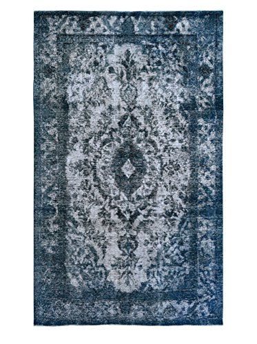 Kalaty One-of-a-Kind Pak Vintage Rug, Blue/Grey, 6' 4