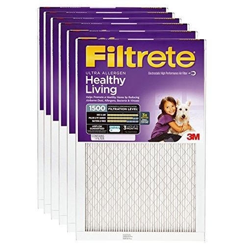 Filtrete Ultra Allergen 14x36x1 MERV 11 MPR 1500 Air Filter - 6 Pack (3m Filtrete 14 X 25 X 1 compare prices)