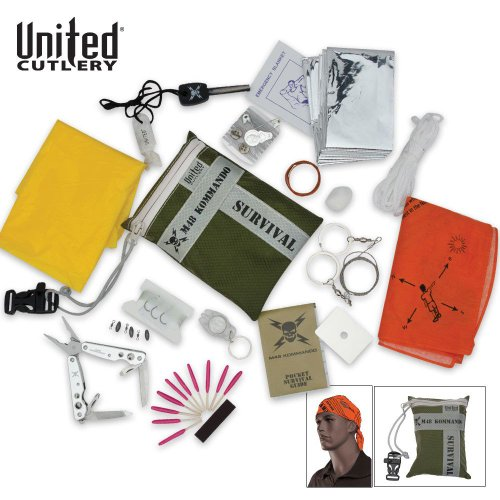 United Cutlery UC2849 M48 Kommando 24-Pc. Ultimate Survival Kit