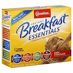 Carnation Instant Breakfast Dark Chocolate, 10-Count Box (Pack of 6)