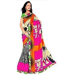 Tarang Women's Designer Georgette Fancy Saree with Blouse (Multi color)