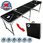 GoPong 8' Portable Beer Pong / Flip Cup Table (6 balls included)