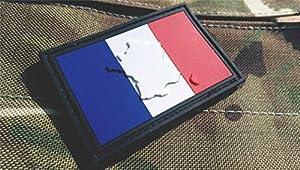 Patch Velcro Airsoft PVC Relief Drapeau Français France