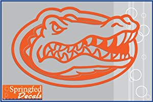 Florida Gators Orange Cut Vinyl Gator Head Logo 12 Quot Vinyl