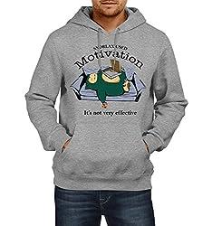 Fanideaz Men's Cotton Motivation Sleeping Bear Pokemon Hoodies For Men (Premium Sweatshirt)_Grey Melange_M