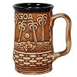 Purpledip Goa Beach Ceramic Beer Coffee Mug,350 Ml (10053)