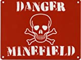DANGER MINEFIELD Metal Advertising Sign (SMALL (200mm X 150mm))