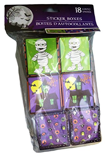 Halloween Sticker Party Favor Boxes - 18/pkg. by Greenbrier - 1