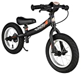 BIKESTAR® Premium Sicherheits-Kinderlaufrad für mutige Entdecker ab 3 Jahren ★ 12er Sport Edition ★ Teuflisch Schwarz