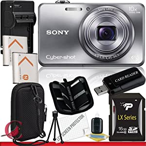 Sony Cyber-shot DSC-WX150 Digital Camera (Silver) 16GB Package 5