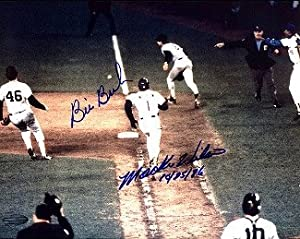 Bill Buckner Autographed Hand Signed Boston Red Sox 8x10 Photo 10-25-86 (Game 6 World... by Hall of Fame Memorabilia