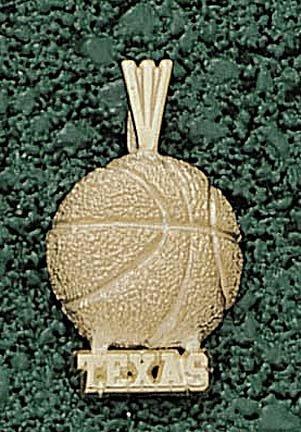 Texas Longhorns Texas Basketball Pendant - 14KT Gold Jewelry by Logo Art