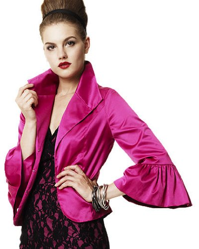 Newport News Satin Wing Collar Jacket