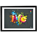 PICKYPOMP Life Wall Poster Art - Laminated Framed 8x12 Inch