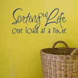 Sorting out life, one load at a time vinyl wall sticker 63 x 29cm - Red