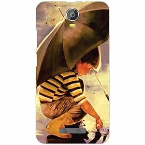 Micromax Canvas Juice 2 Back Cover - Silicon Little boy Designer Cases
