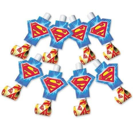Superman Party Supplies Blowouts - 8 Count - 1