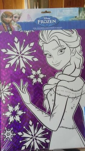 Disney Frozen Foil Coloring Sheets with Markers (Elsa and Anna)