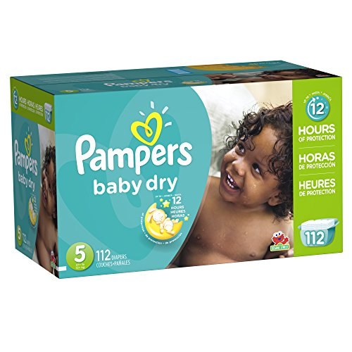 Pampers Baby Dry Diapers Giant Pack, Size 5, 112 Count
