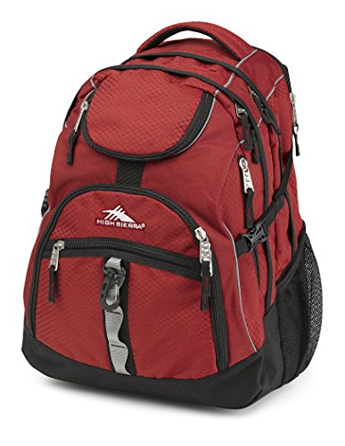 High Sierra Access Backpack, Brick/Black