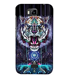 Tiger Vector Design 3D Hard Polycarbonate Designer Back Case Cover for Huawei Honor Bee :: Huawei Y5C