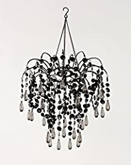 ZAPPOBZ HLLWF3 Waterfall Chandelier, Black Swag