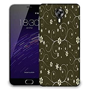 Snoogg Cream Flower Designer Protective Phone Back Case Cover For Meizu M2