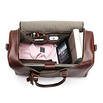 Leathario Mens Leather Weekend Travel Mens Duffel Bags 2