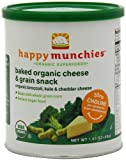 Happy Munchies Baked Organic Cheese & Grain Snack, Organic Broccoli, Kale & Cheddar Cheese, 1.63-Ounce Canisters (Pack of 6)