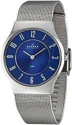 Skagen Men's 233LSSNC Steel Blue Dial Mesh Bracelet Watch