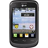 TracFone LG 306G No Contract Phone - Retail Packaging - Black