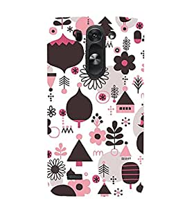 Floral Design Wallpaper Cute Fashion 3D Hard Polycarbonate Designer Back Case Cover for LG G3 Beat :: LG G3 S :: LG G3 S Duos :: LG G3 Beat Dual :: LG D722K :: LG G3 Vigor :: LG D722 D725 D728 D724