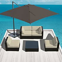 Hot Sale Sunbrella Fabric Outdoor Patio Furniture Wicker Modern Sofa Sectional Bella 5pc Set Canvas Antique
