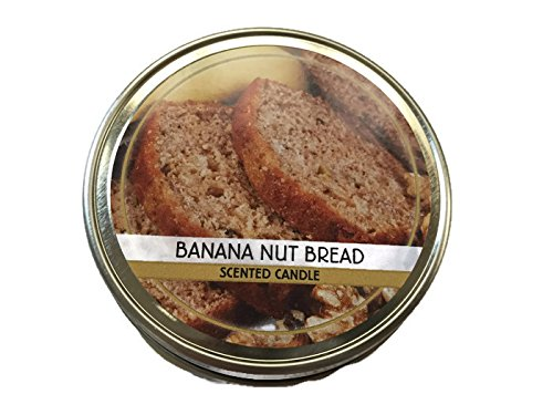 Banana Nut Bread Scented Candle - 3 Oz Mason Jar, Screw Top Lid, 2/3 Cup Mason Jar - Smell Home-baked Goods Without the Baking! (Bread Scented Candles compare prices)