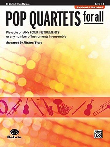 Pop Quartets for All: B-Flat Clarinet, Bass Clarinet (Pop Instrumental Ensembles for All)