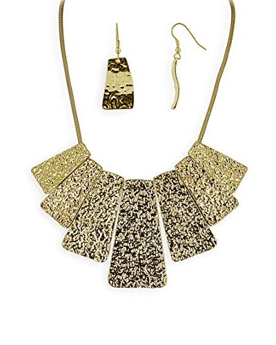Fashionvictime Conjunto Rectangles Dorado