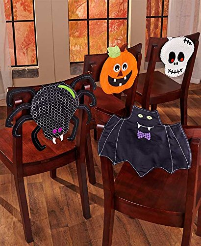 Halloween Table 4 Chair Covers Collection 4 Pc Set Holiday Home Decor
