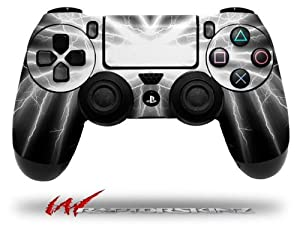 Lightning White - Decal Style Wrap Skin fits Sony PS4 Dualshock 4 Controller - CONTROLLER NOT INCLUDED